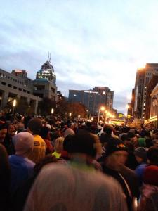 The starting line on the Monumental Marathon and Half Marathon