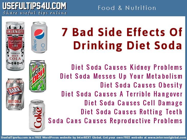 7 Side Effects of Drinking Diet Soda